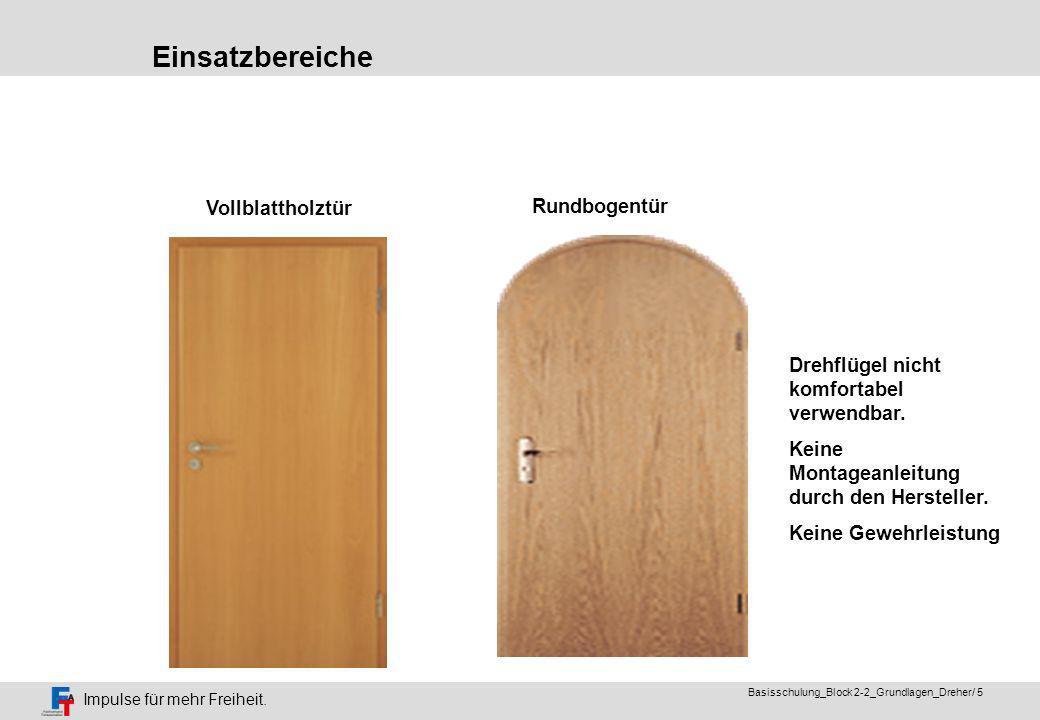 Einsatzbereiche Vollblattholztür Rundbogentür