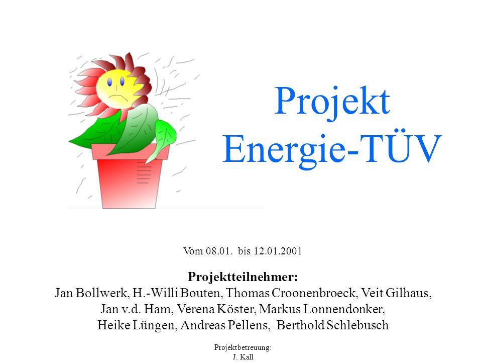 Projekt Energie-TÜV Projektteilnehmer: