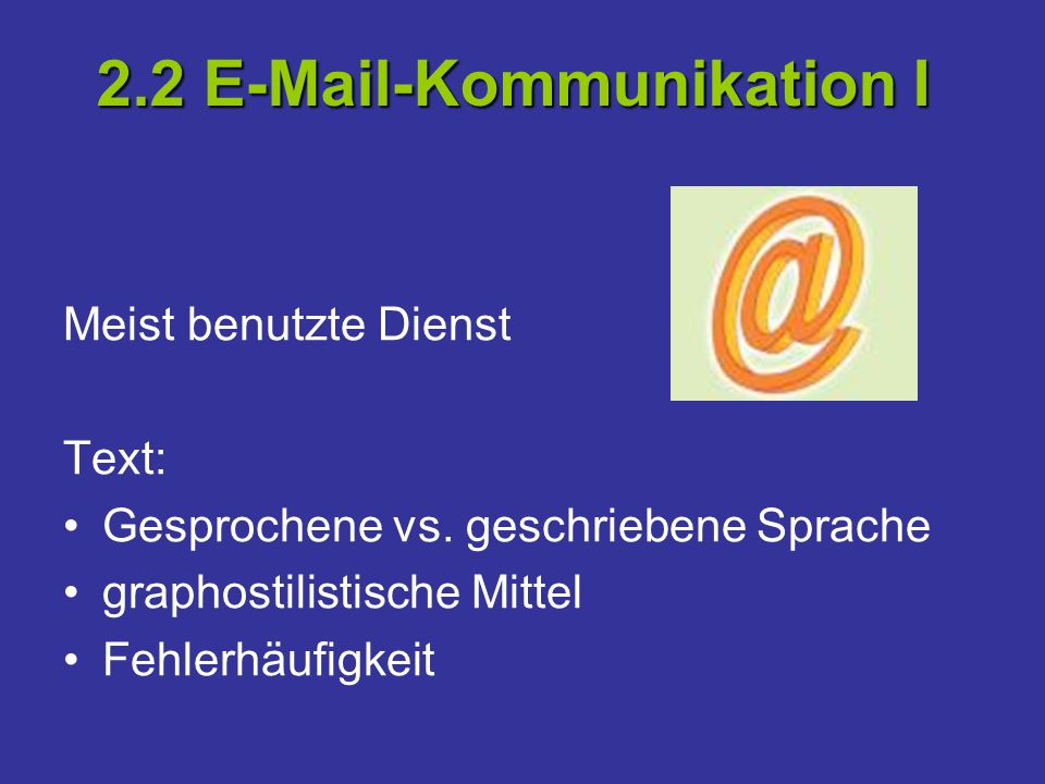 2.2 E-Mail-Kommunikation I