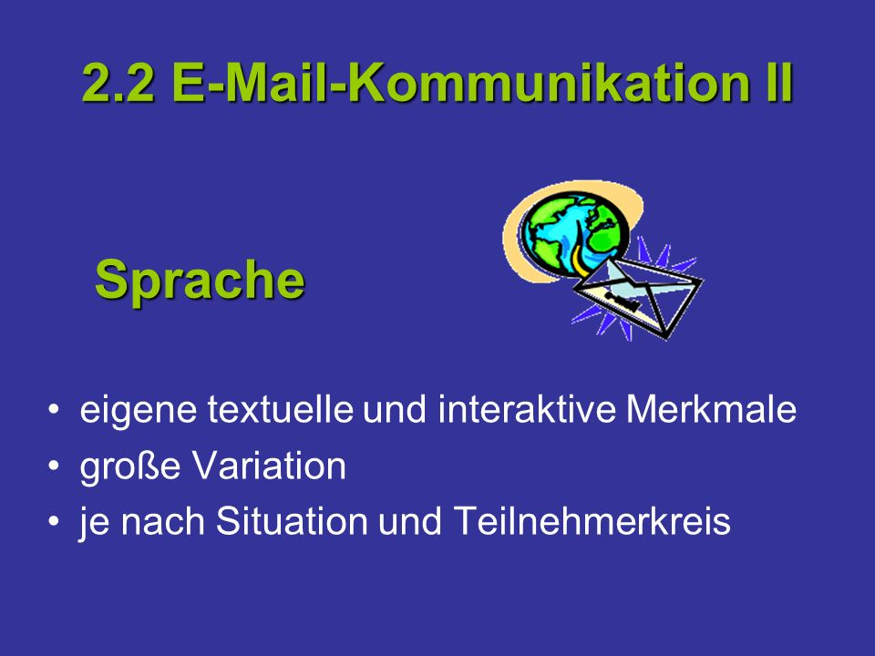 2.2 E-Mail-Kommunikation II
