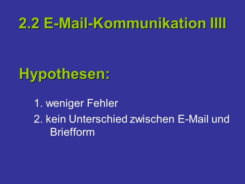2.2 E-Mail-Kommunikation IIII