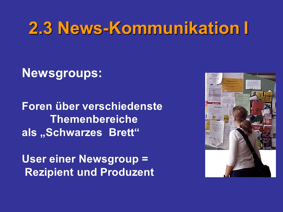 2.3 News-Kommunikation I