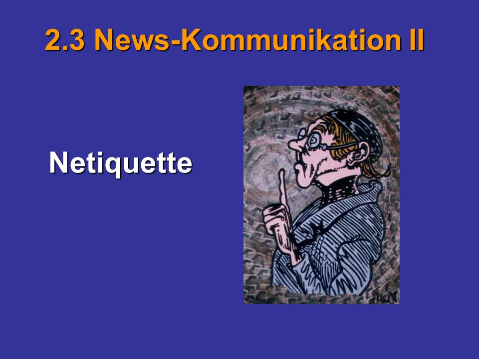 2.3 News-Kommunikation II