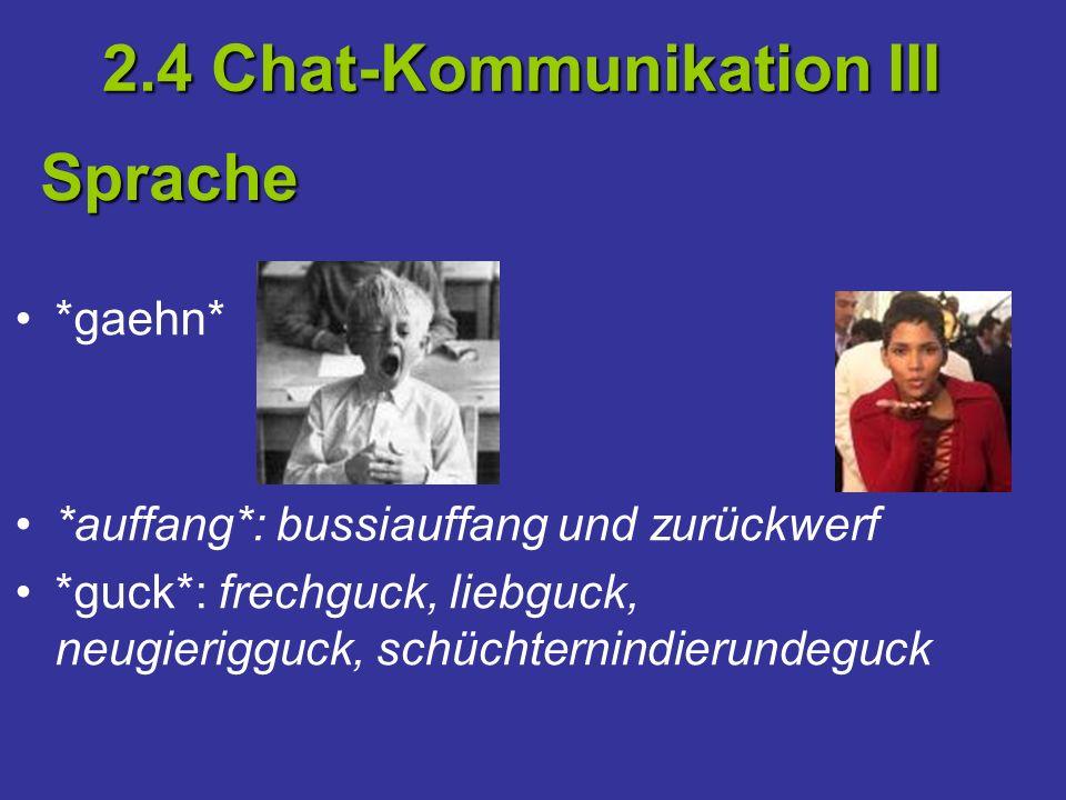 2.4 Chat-Kommunikation III