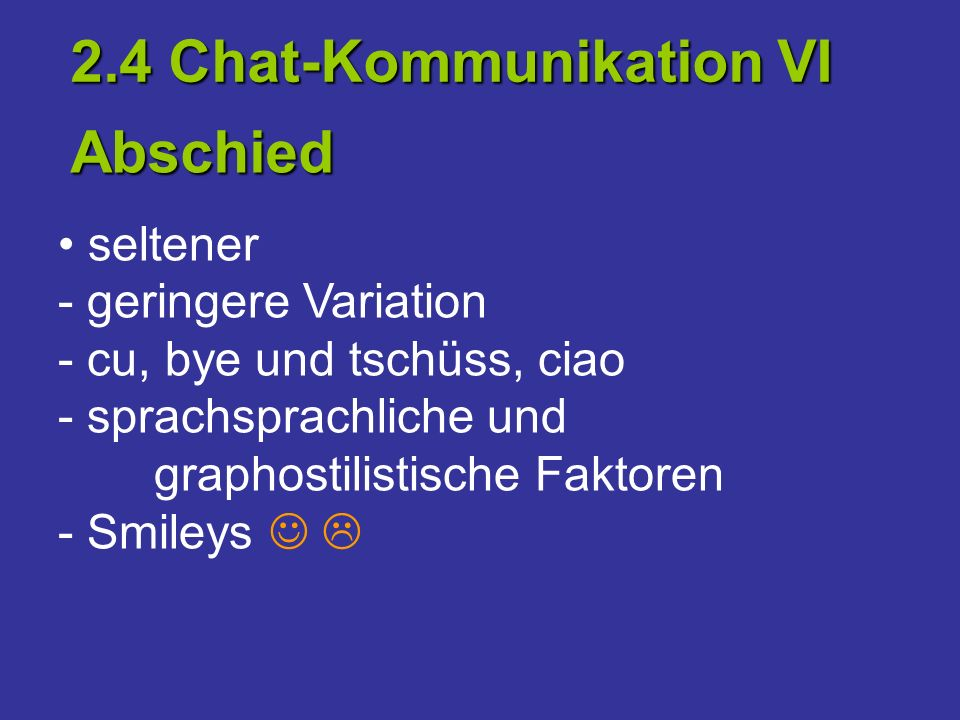 2.4 Chat-Kommunikation VI