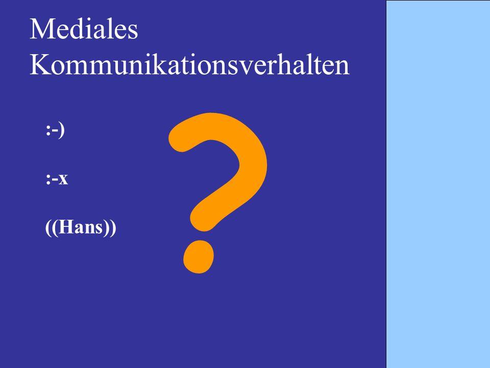 Mediales Kommunikationsverhalten
