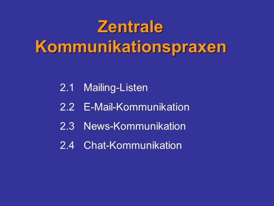 Zentrale Kommunikationspraxen