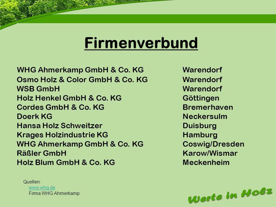 Firmenvorstellung Firmenverbund WHG Ahmerkamp GmbH & Co. KG Warendorf