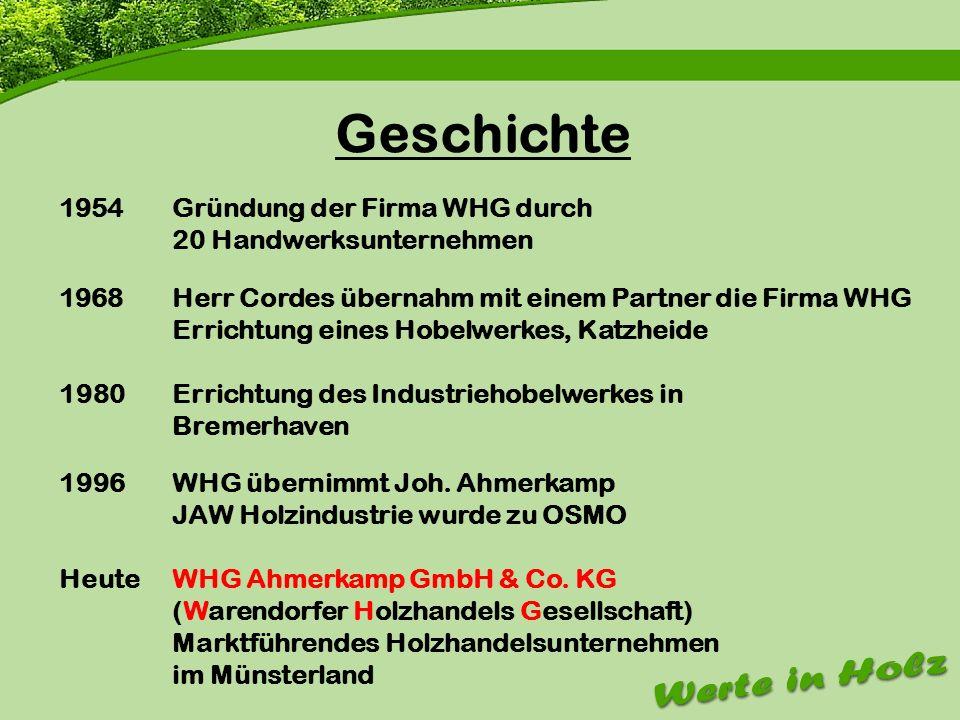 Geschichte Gründung der Firma WHG durch 20 Handwerksunternehmen