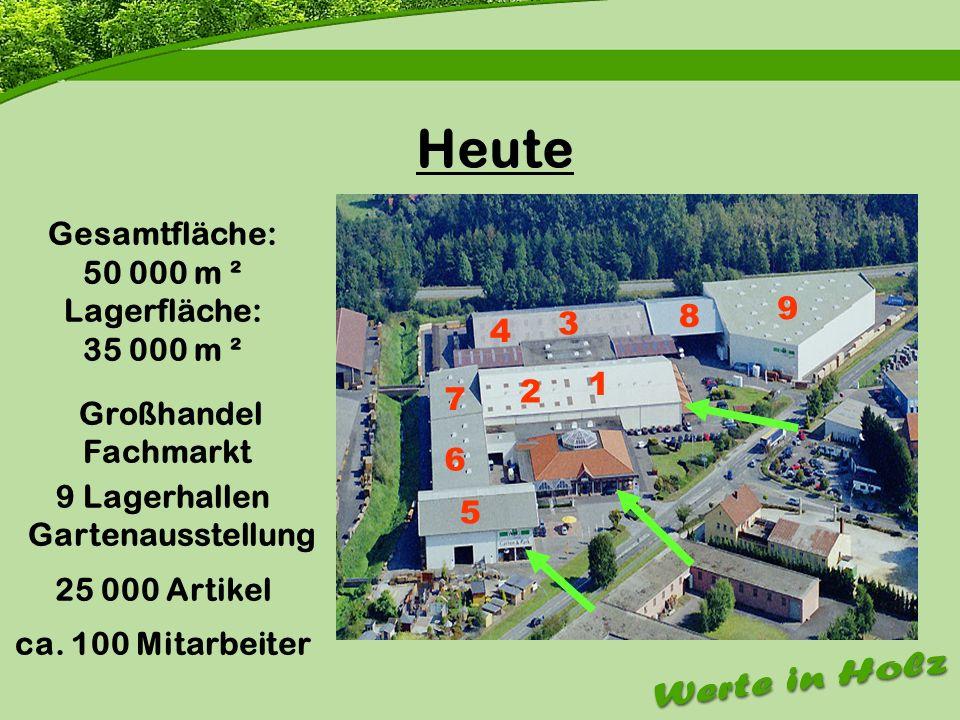 Firmenvorstellung Heute Gesamtfläche: 50 000 m ² Lagerfläche: