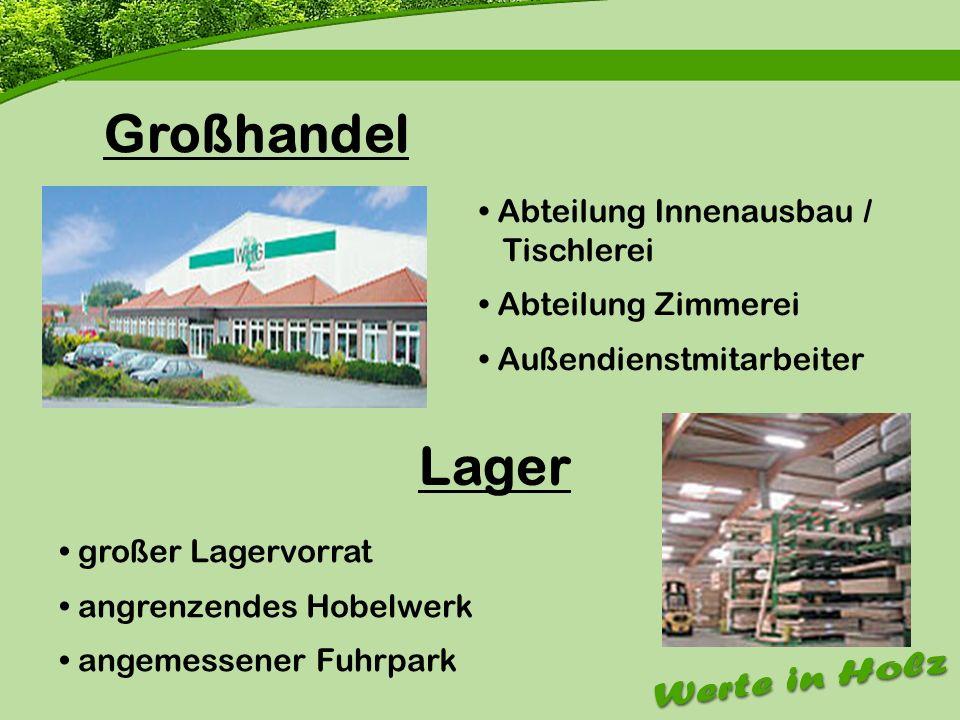 Firmenvorstellung Großhandel Lager Abteilung Innenausbau / Tischlerei