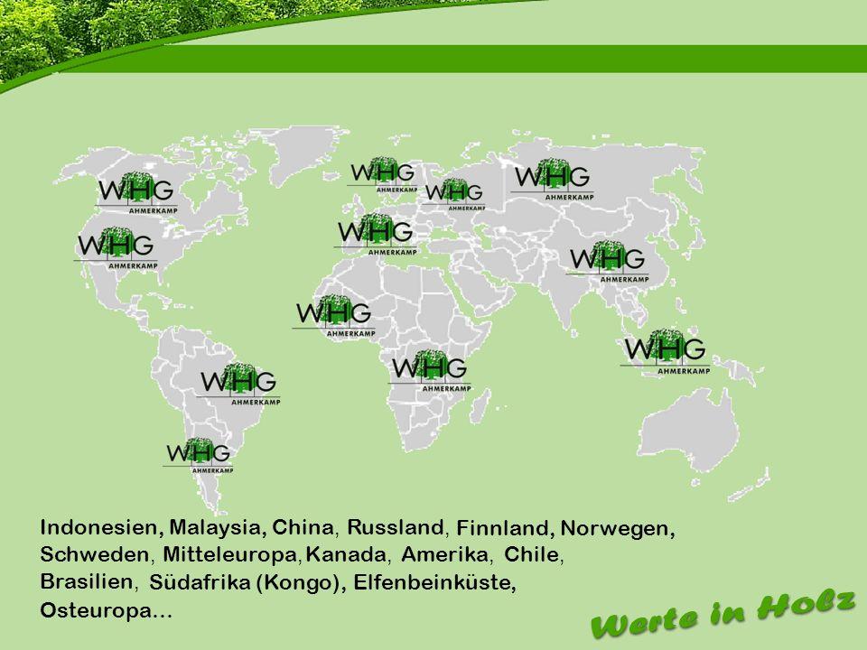 Firmenvorstellung Indonesien, Malaysia, China, Russland,
