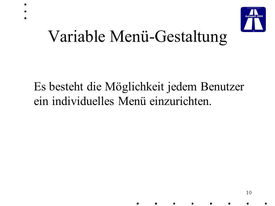 Variable Menü-Gestaltung