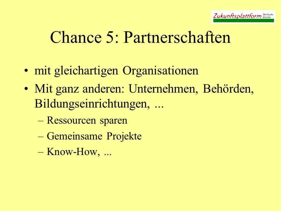Chance 5: Partnerschaften