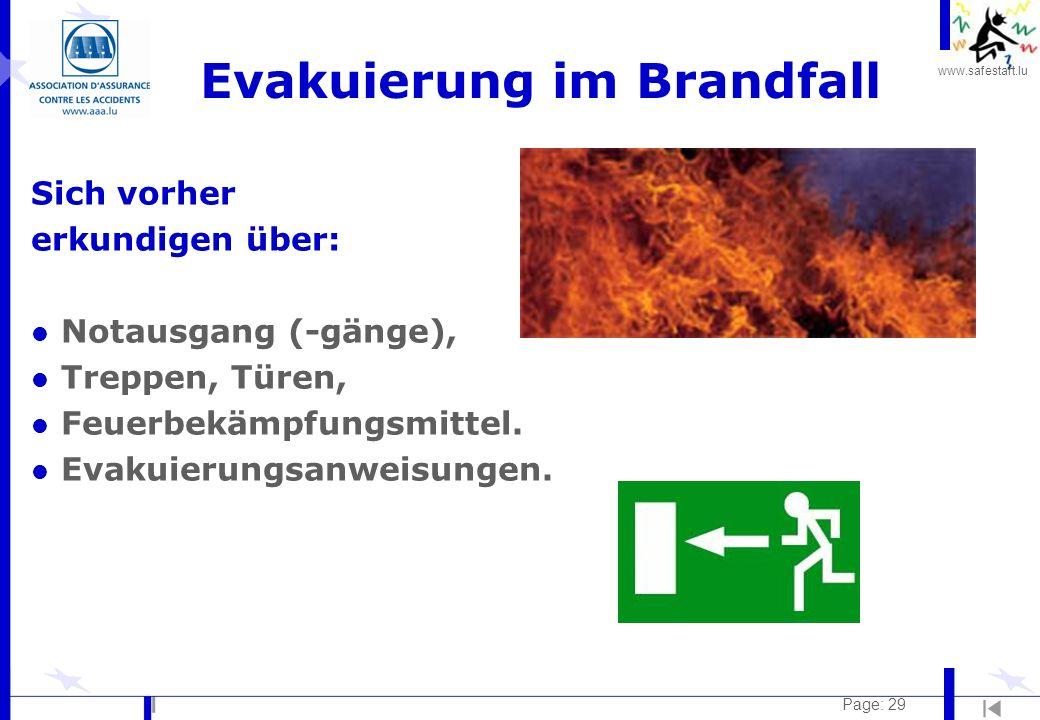 Evakuierung im Brandfall