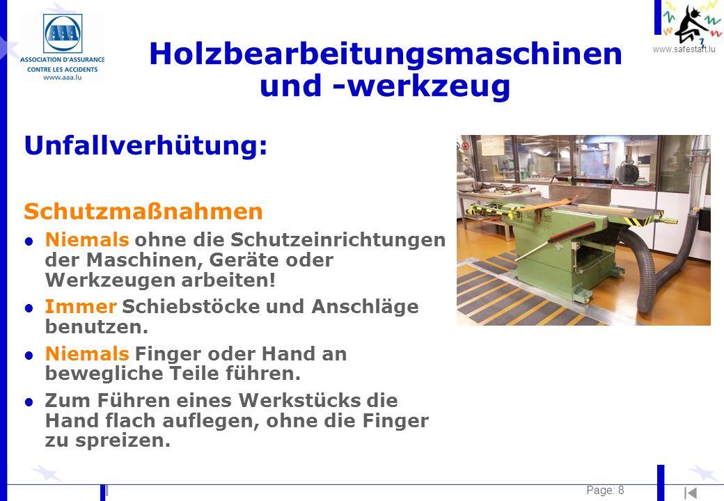 Holzbearbeitungsmaschinen und -werkzeug