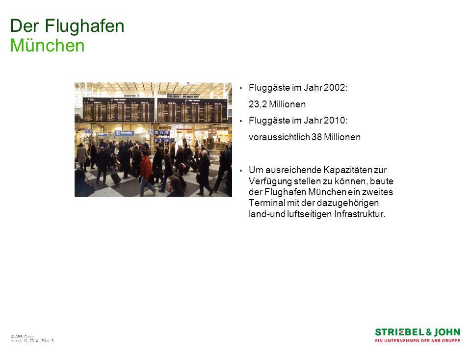 Der Flughafen München Fluggäste im Jahr 2002: 23,2 Millionen