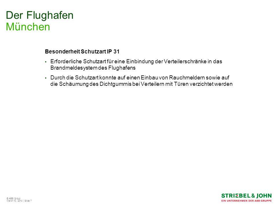 Der Flughafen München Besonderheit Schutzart IP 31