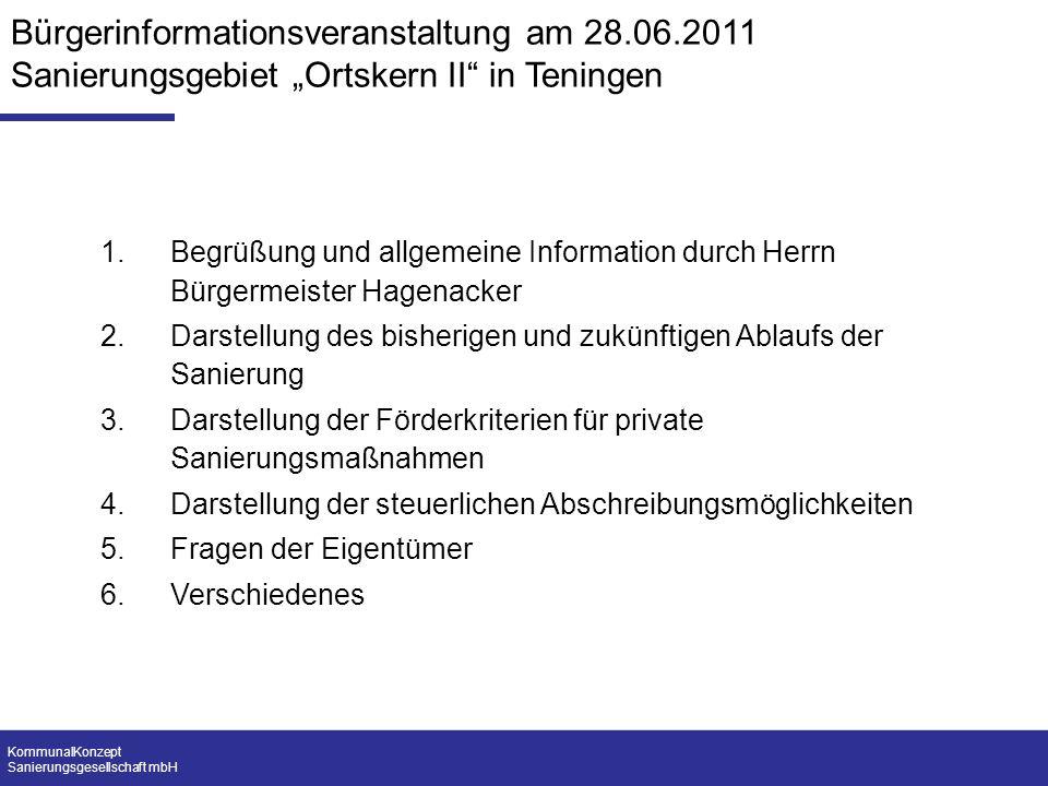 Bürgerinformationsveranstaltung am 28. 06