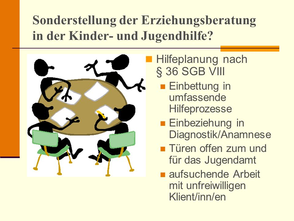 Sonderstellung der Erziehungsberatung in der Kinder- und Jugendhilfe