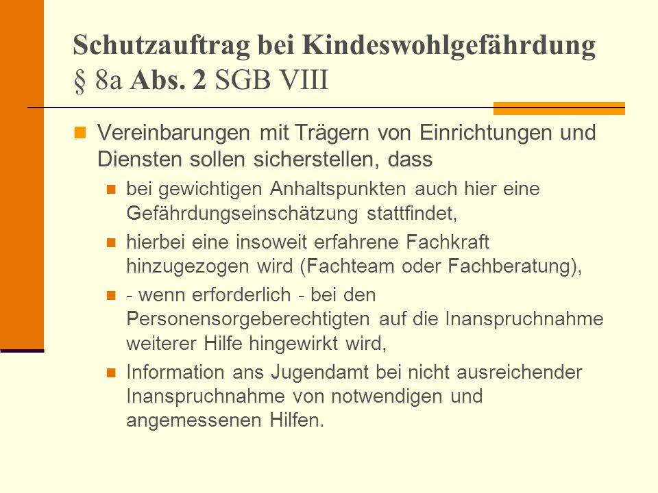 Schutzauftrag bei Kindeswohlgefährdung § 8a Abs. 2 SGB VIII