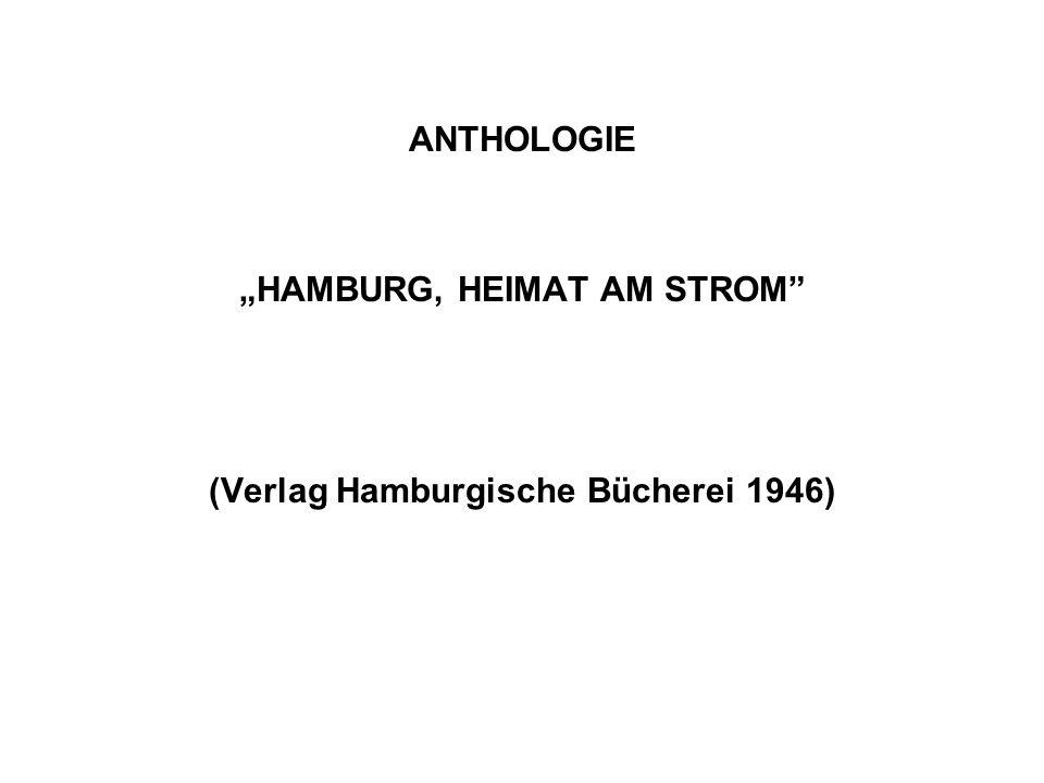 """""""HAMBURG, HEIMAT AM STROM (Verlag Hamburgische Bücherei 1946)"""