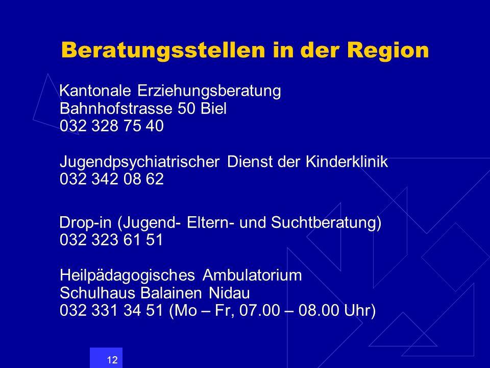 Beratungsstellen in der Region