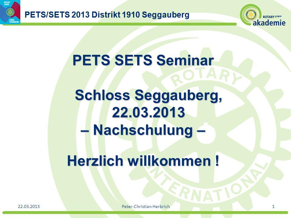 PETS SETS Seminar Schloss Seggauberg, 22.03.2013