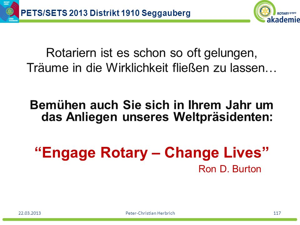 Engage Rotary – Change Lives