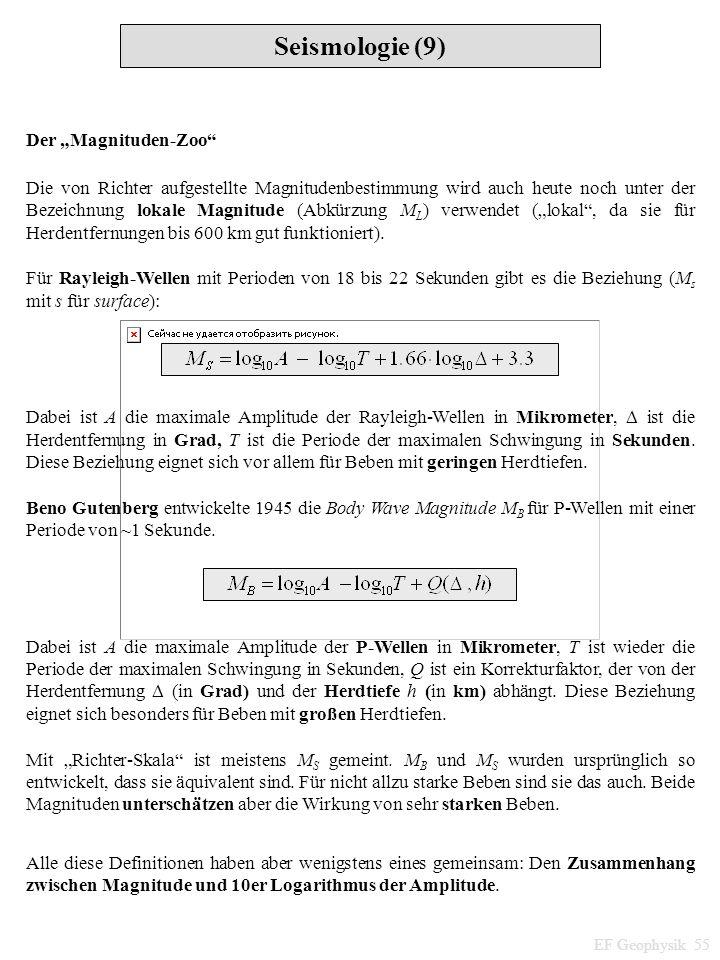 """Seismologie (9) Der """"Magnituden-Zoo"""
