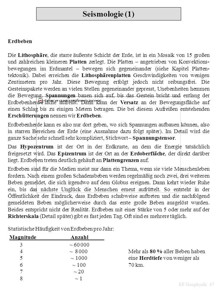 Seismologie (1) Erdbeben