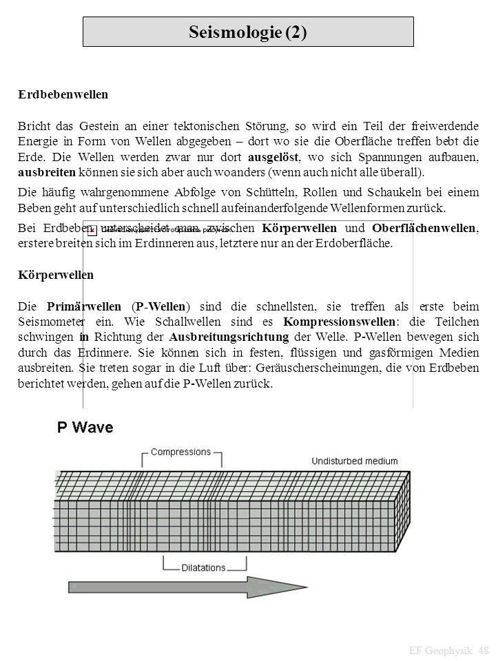 Seismologie (2) Erdbebenwellen