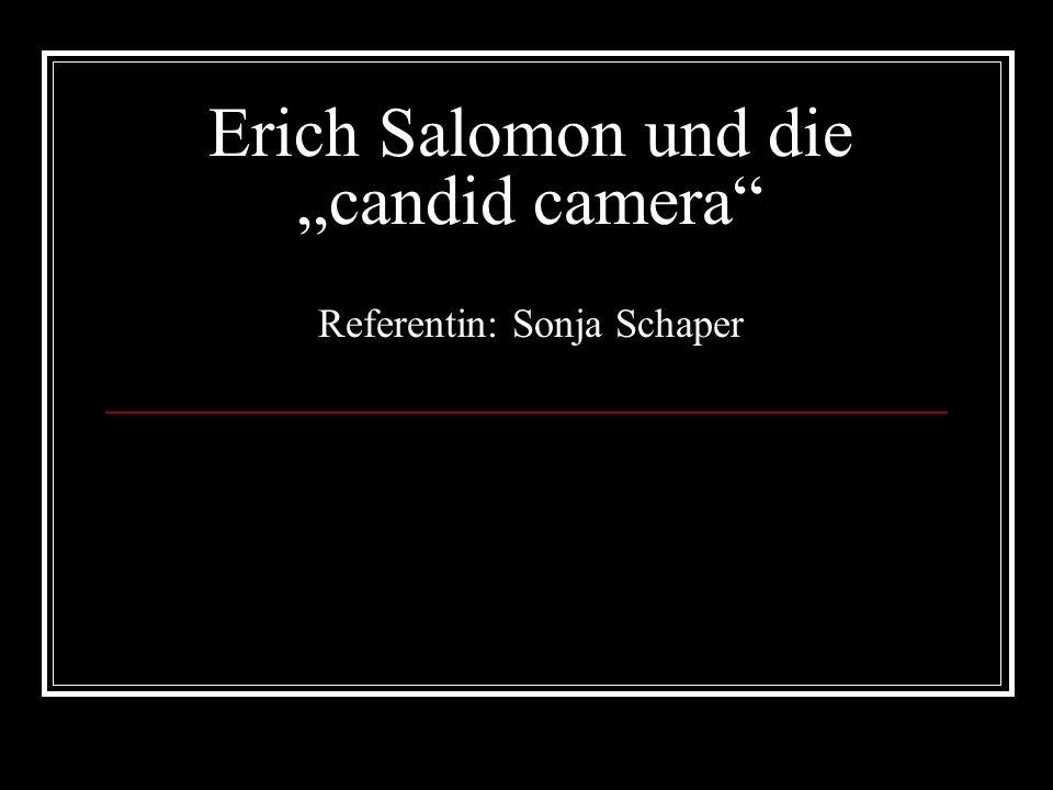 """Erich Salomon und die """"candid camera Referentin: Sonja Schaper"""