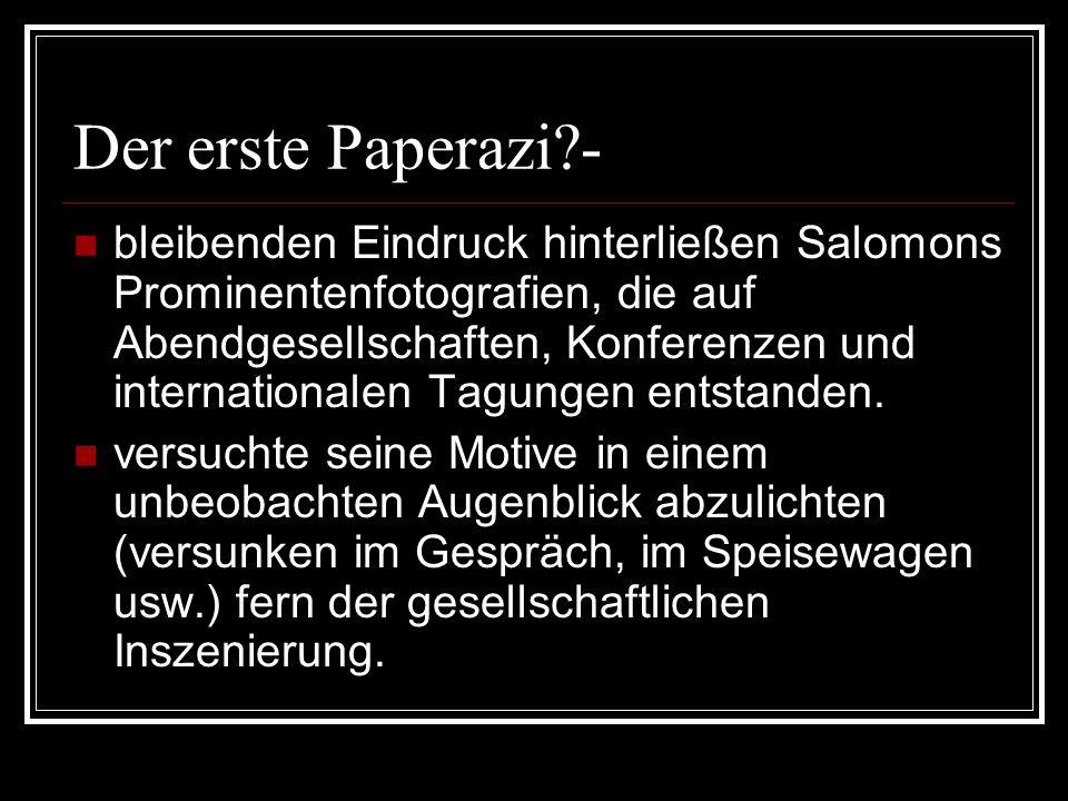 Der erste Paperazi -