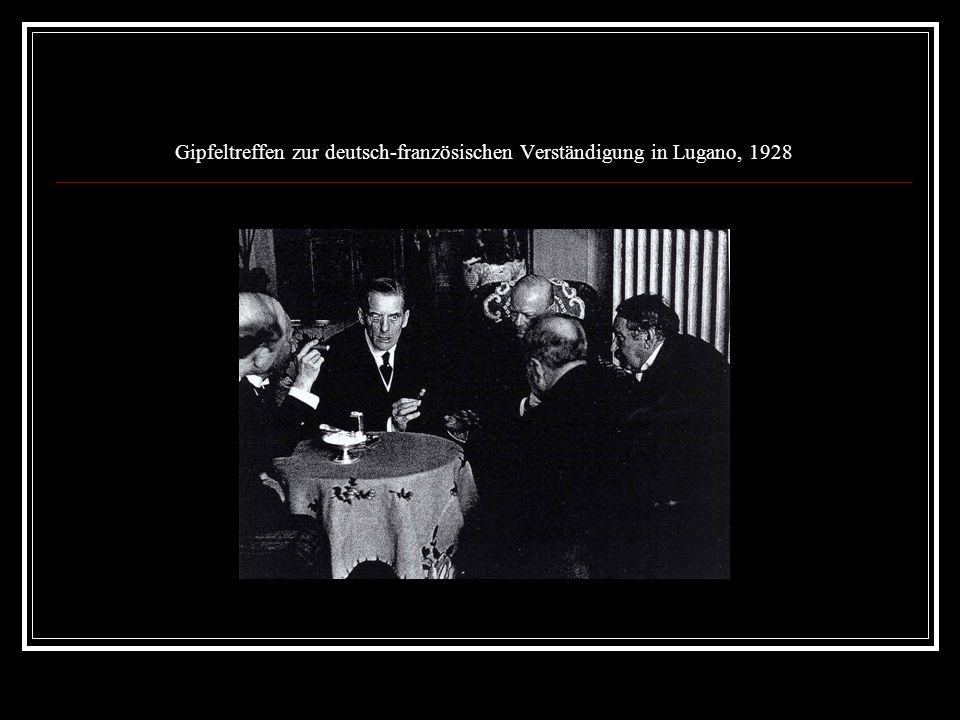 Gipfeltreffen zur deutsch-französischen Verständigung in Lugano, 1928