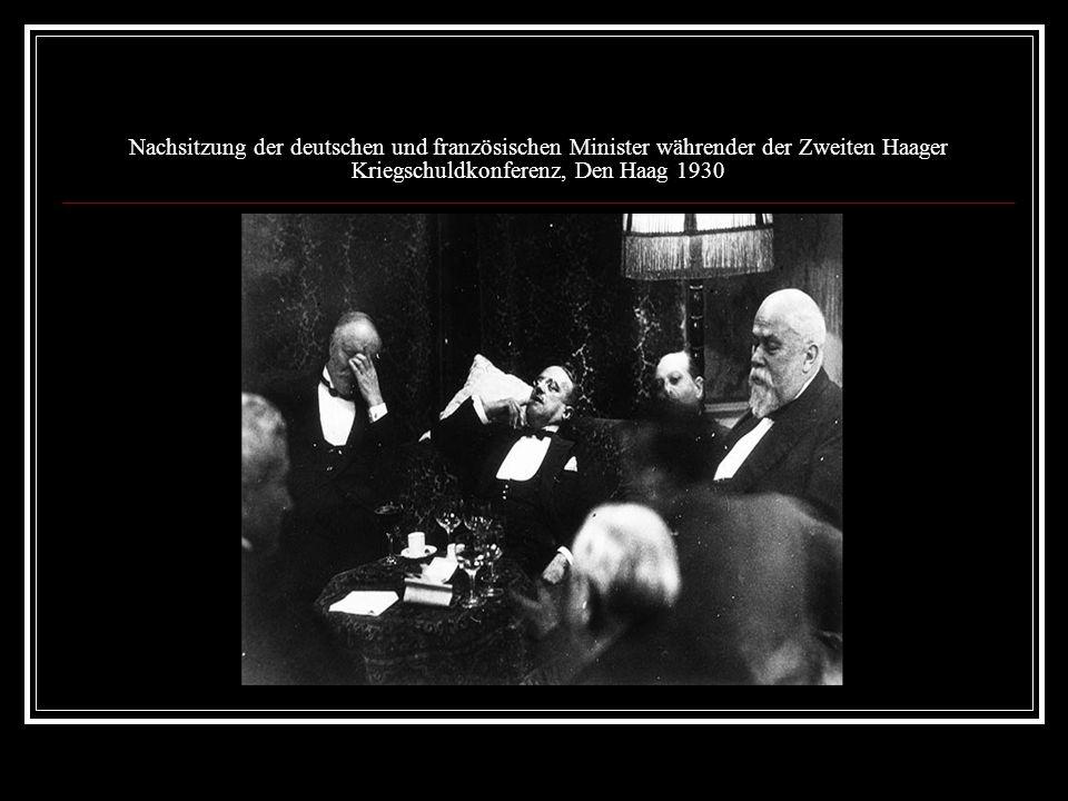 Nachsitzung der deutschen und französischen Minister währender der Zweiten Haager Kriegschuldkonferenz, Den Haag 1930