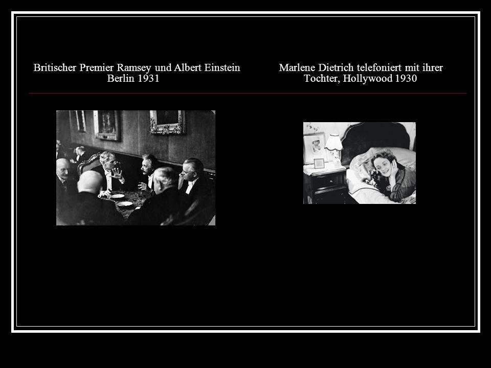 Britischer Premier Ramsey und Albert Einstein