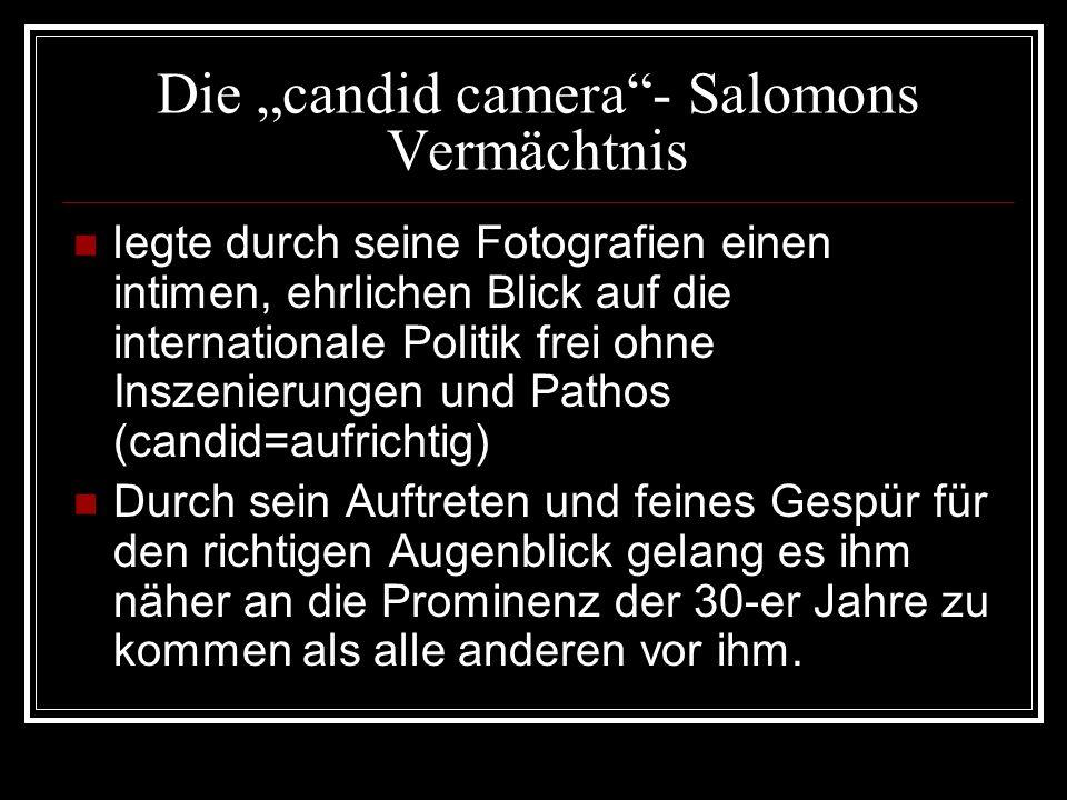 "Die ""candid camera - Salomons Vermächtnis"