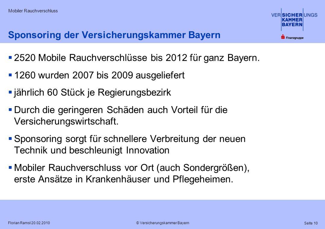 Sponsoring der Versicherungskammer Bayern