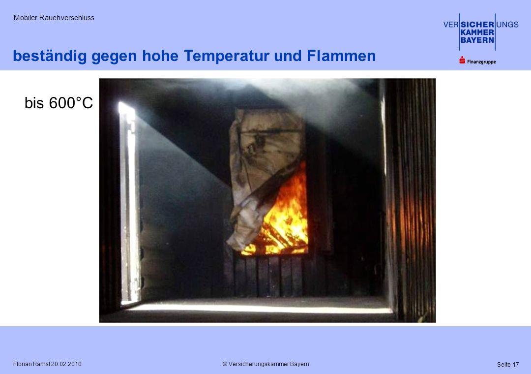 beständig gegen hohe Temperatur und Flammen