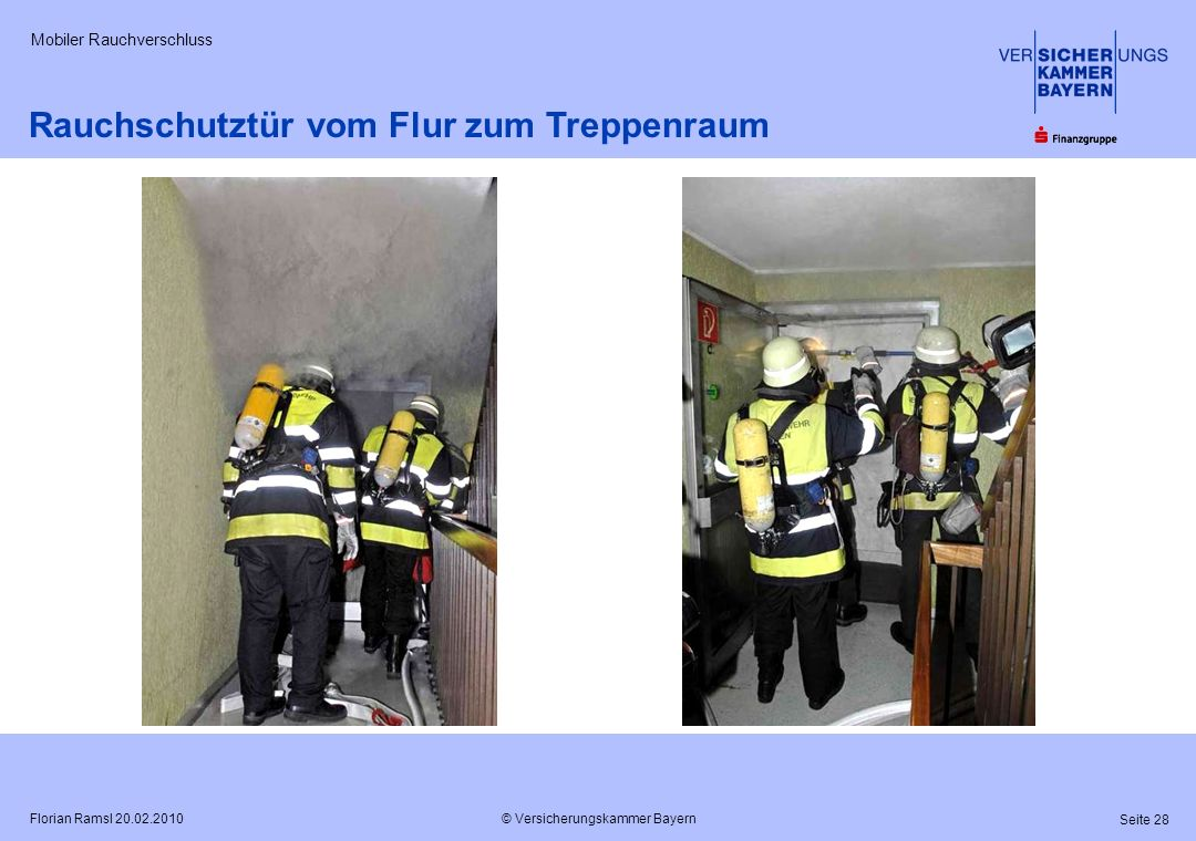 Rauchschutztür vom Flur zum Treppenraum