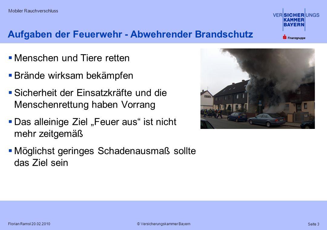 Aufgaben der Feuerwehr - Abwehrender Brandschutz