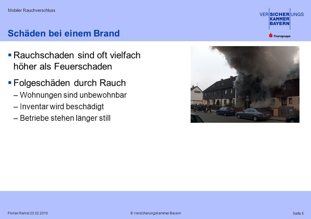 Schäden bei einem Brand