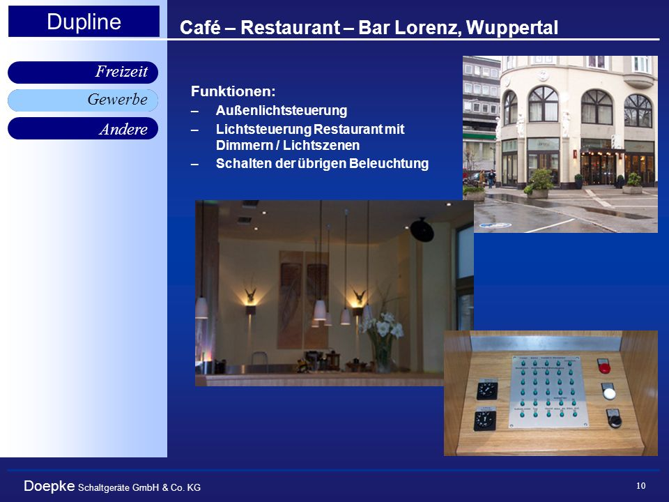Café – Restaurant – Bar Lorenz, Wuppertal