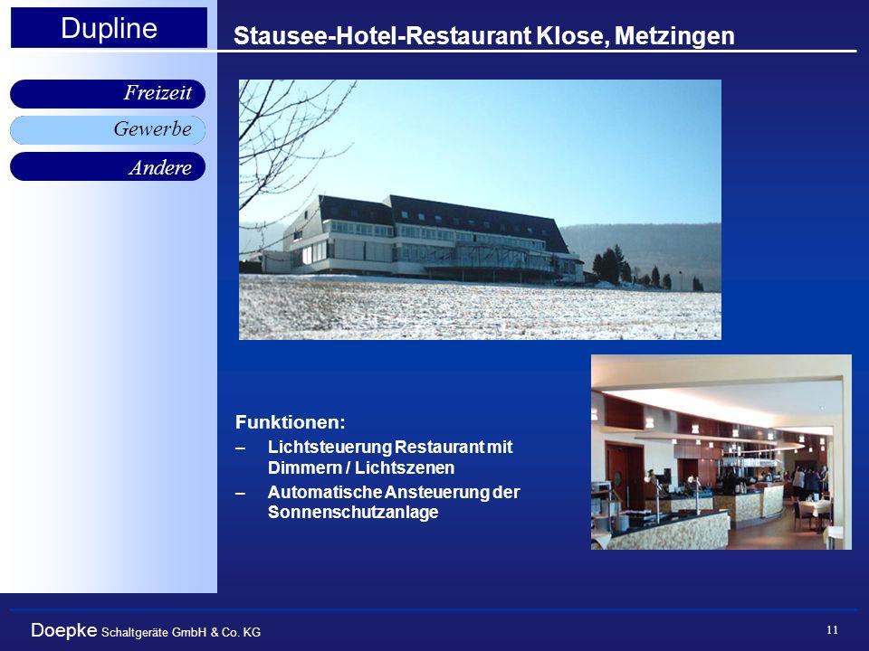 Stausee-Hotel-Restaurant Klose, Metzingen