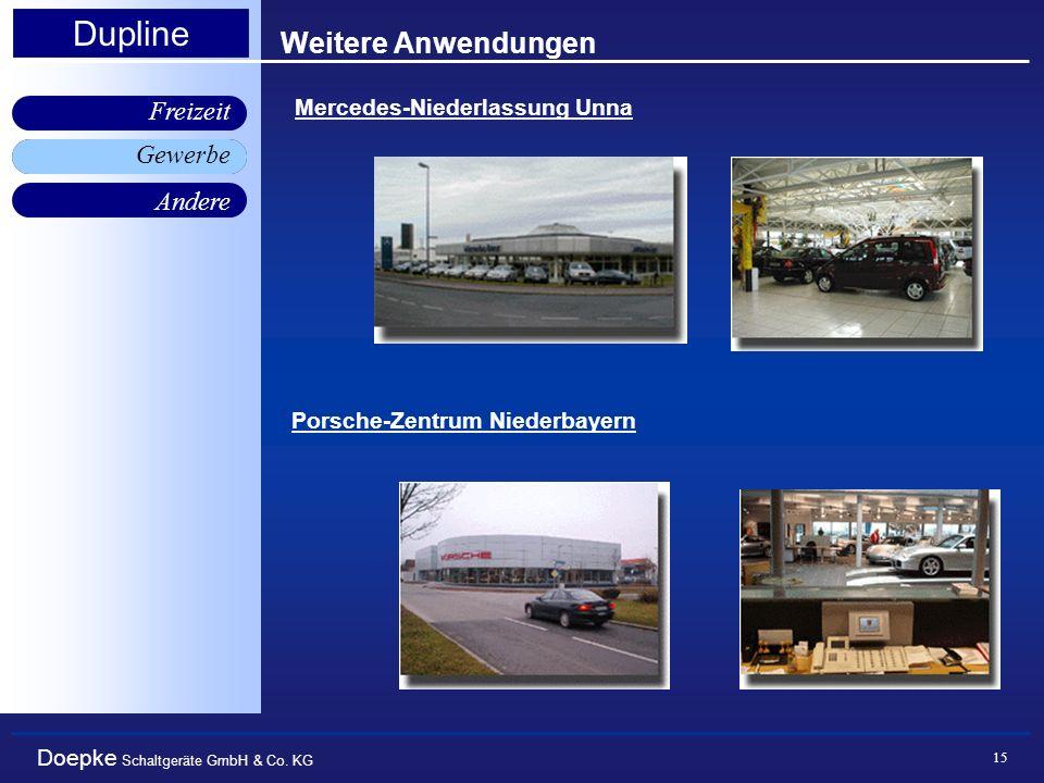 Weitere Anwendungen Gewerbe Mercedes-Niederlassung Unna