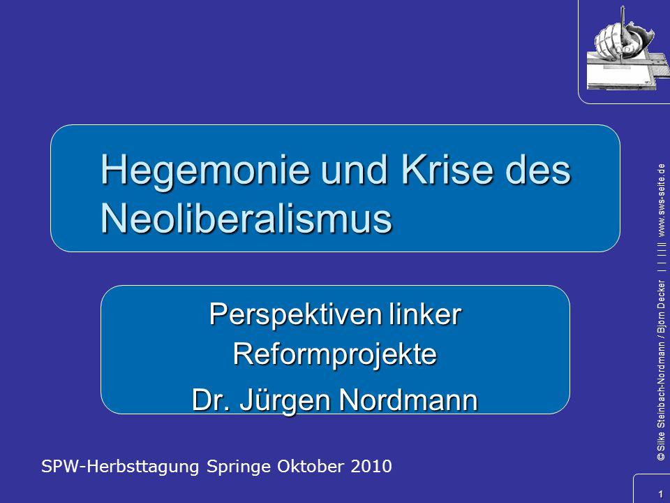 Hegemonie und Krise des Neoliberalismus