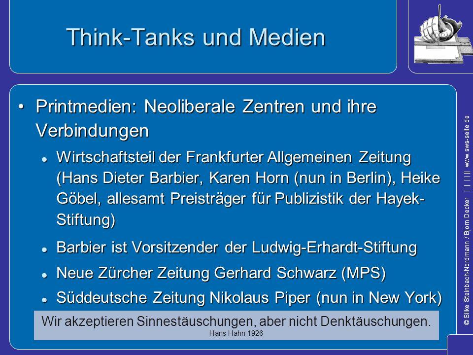 Think-Tanks und Medien