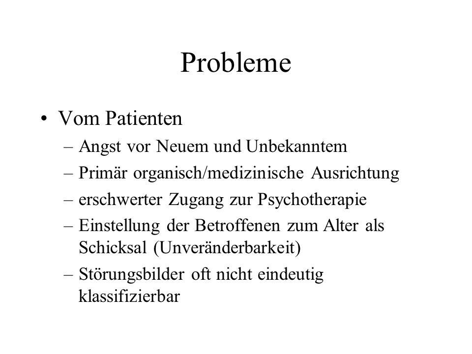 Probleme Vom Patienten Angst vor Neuem und Unbekanntem