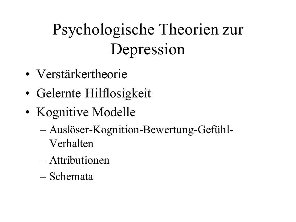 Psychologische Theorien zur Depression